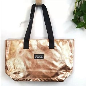 4 for $25 VS PINK ROSE GOLD TOTE BAG.